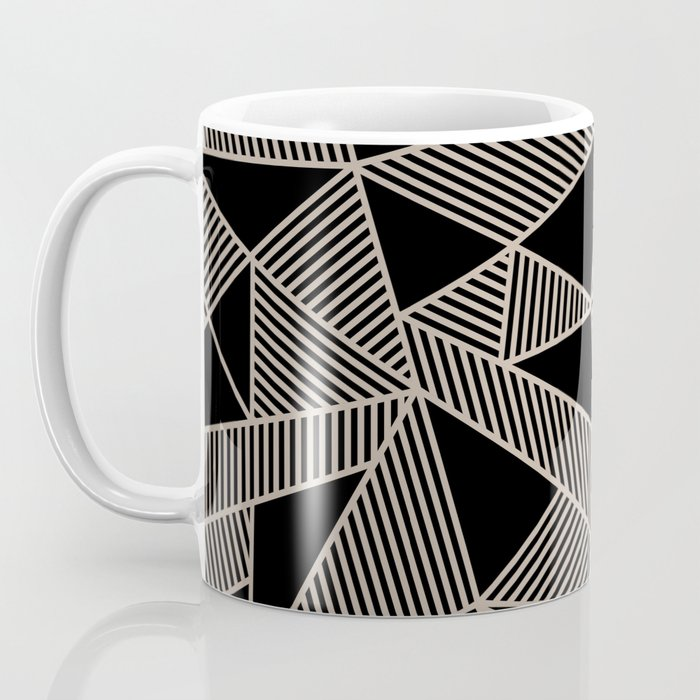Geometric Abstract Origami Inspired Pattern Coffee Mug