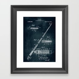 1917 - Billiard cue Framed Art Print