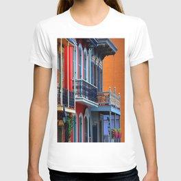 Colorful French Quarter Row Homes T-shirt