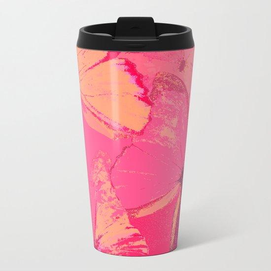 Butterflies in red shades Metal Travel Mug