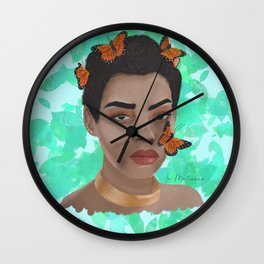 Butterfly's hex Wall Clock
