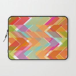Kaleidoscope arrow pattern in vibrant colours Laptop Sleeve