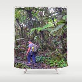 Jose hiking up El Yunque trails -  El Yunque rainforest in PR Shower Curtain