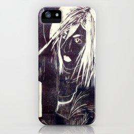 Crow girl iPhone Case