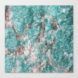 Amazonite Stone Canvas Print