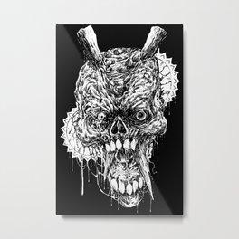 Tortured Skull Of Death Metal Print