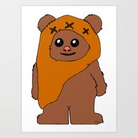 Wicket, who destroyed the Empire. Art Print