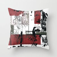 jazz Throw Pillows featuring jazz by onoff mode