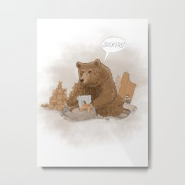 The teddy bear myth: busted Metal Print