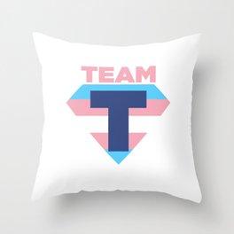 Team T Transgender Flag Symbol - Trans Pride Gift Design Cool Pun Humor Throw Pillow