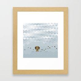 Little Brody Framed Art Print