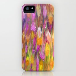 Field of Flowers in Yellow and Pink iPhone Case