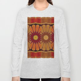 Orange flower pattern daisy Long Sleeve T-shirt