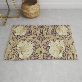 William Morris Pimpernel Orchid & Violets Floral Textile Pattern Rug