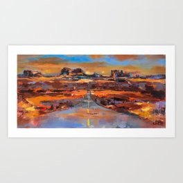 The Land of Rock towers Art Print