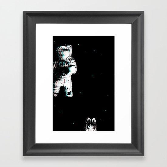 Spaced Dreams (Moon Traveler) Framed Art Print