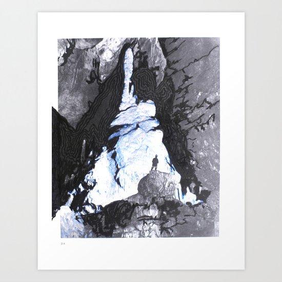 Cave Drawing V Art Print