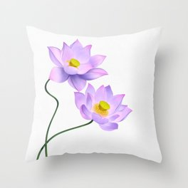 Thamarai, Yellow Flower, Floral Pattern, Yellow Blossom Throw Pillow