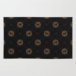 GOLD AND BLACK WEIMARANER Rug
