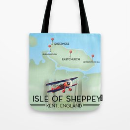 Isle of Sheppey map Tote Bag
