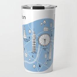 Mapping London - Blue Travel Mug