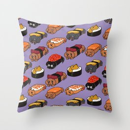 Sushi Daschunds Throw Pillow