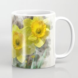 Watercolor Daffodils Coffee Mug