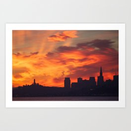 A Dragon over San Francisco Art Print