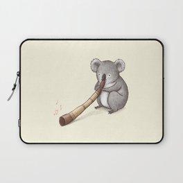 Koala Playing the Didgeridoo Laptop Sleeve