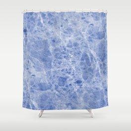 Juliette blue marble Shower Curtain