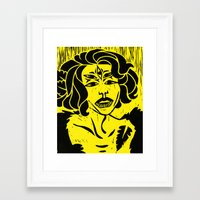 wtnv Framed Art Prints featuring an angel named erika by colin arc