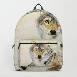 Totem Wolf: Gray wolf (c) 2017 Backpack
