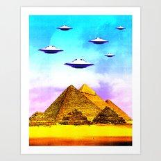 Aliens Built it Art Print