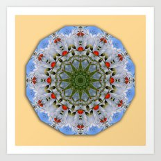 Flower Mandala, Red Poppies Art Print