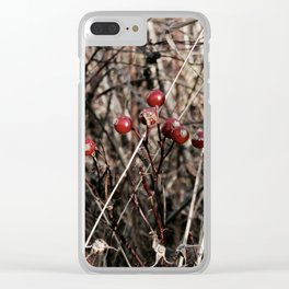 Thorned Berries of Winter Clear iPhone Case