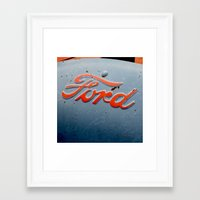 ford Framed Art Prints featuring FORD by TMCdesigns