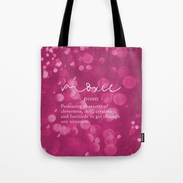Moxie Definition - Pink Bokeh Tote Bag