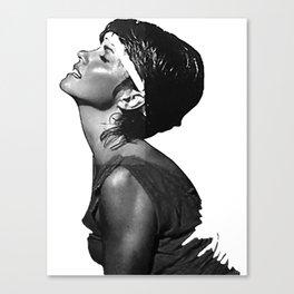 Olivia Newton-John - Physical Black & White Canvas Print