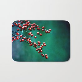 Winter Berries Bath Mat