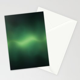 ACOUSTIC WAVES (GREEN) Stationery Cards