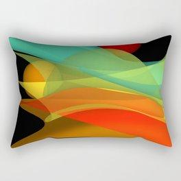 bicubic waves -4- Rectangular Pillow