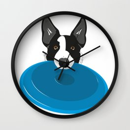 Border Collie - Disc Dog 2 Wall Clock