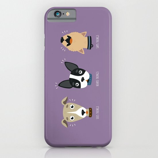 Three wise dogs iPhone & iPod Case