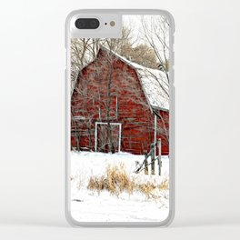 A Cold Day in December Clear iPhone Case