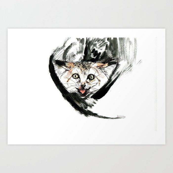 Desert Cat 1 Art Print