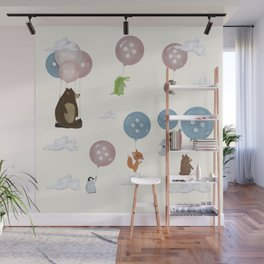 button ballooning Wall Mural