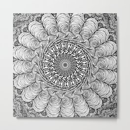 Conch Mandala Metal Print