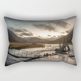 Broken Bridge Valley Dusk Rectangular Pillow