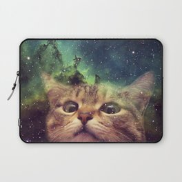 Cat Staring into Space Laptop Sleeve