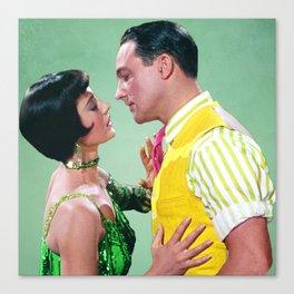 Gene Kelly & Cyd Charisse - Green - Singin' in the Rain Canvas Print